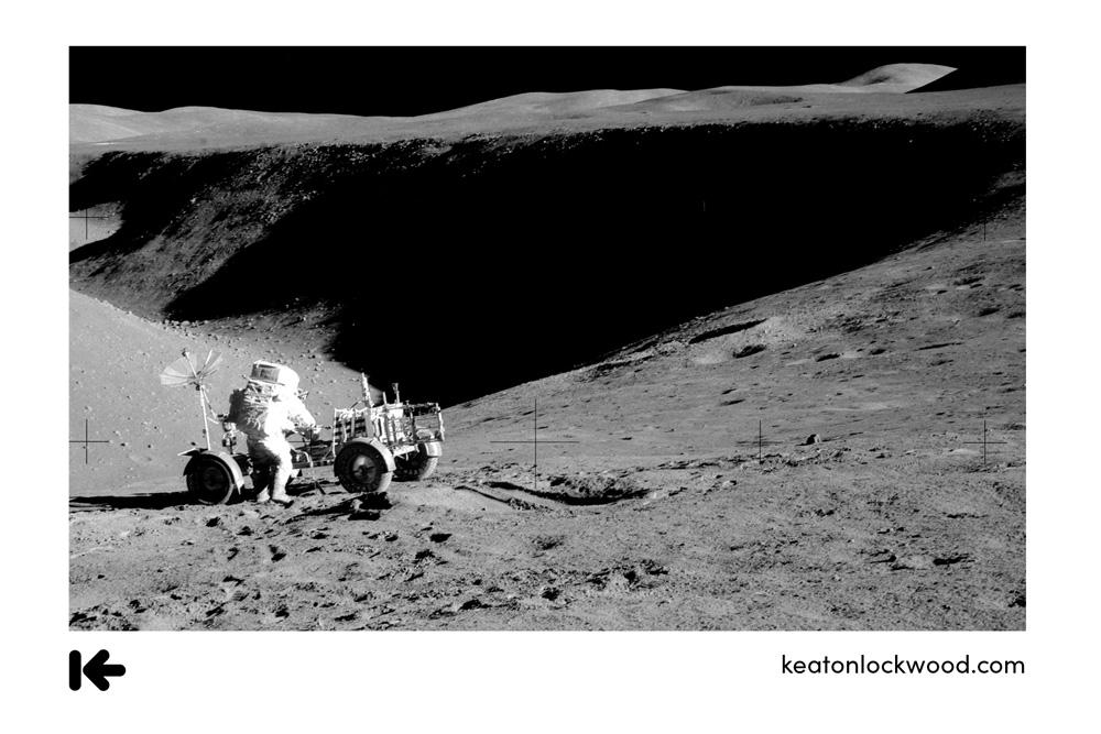 astronaut moon photo