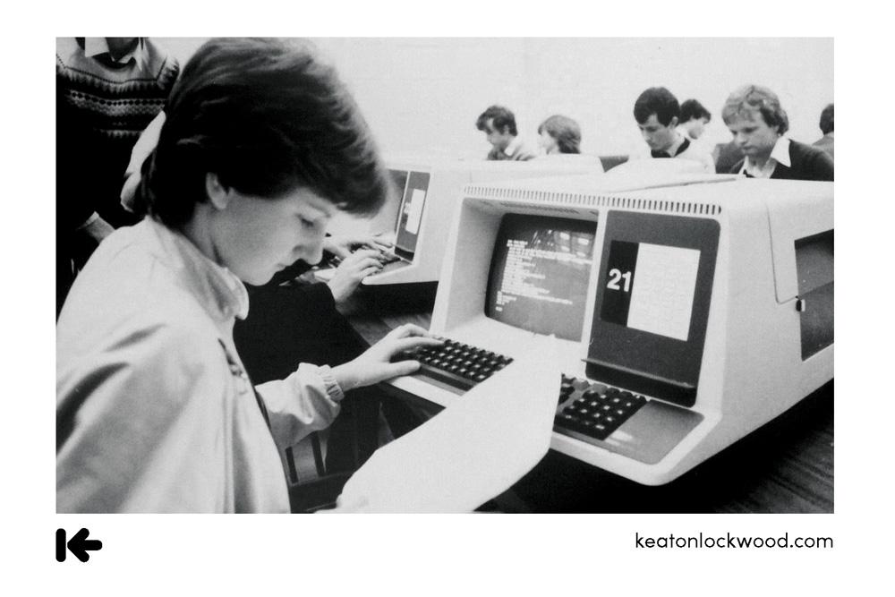 old tech boy computer