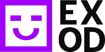 EXOD's logo, the automated Facebook marketing platform.