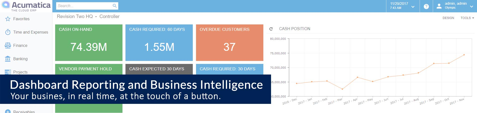 Acumatica Dashboard Reporting and Business Intelligence