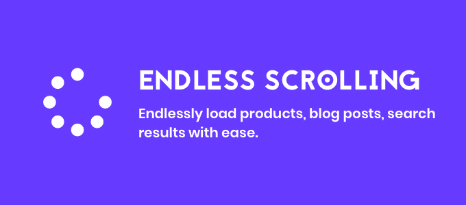 endless scrolling app banner