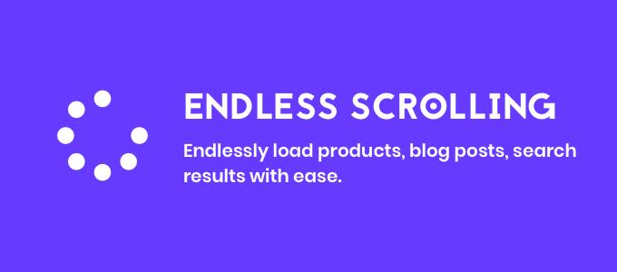 endless scrolling app banner