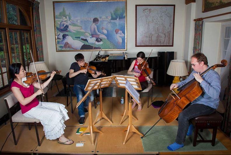 string quartet practice