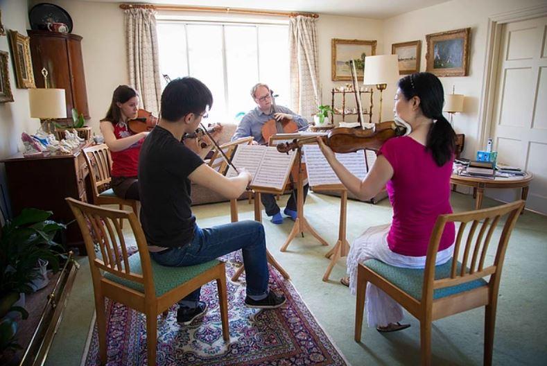 Quartet rehearsals