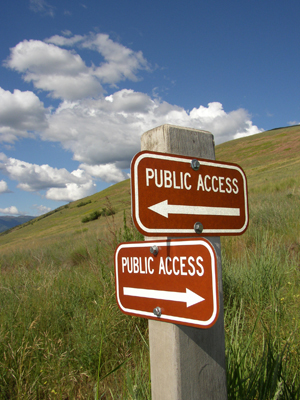 Signs on Mount Sentinel