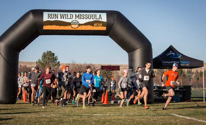 nd they're off! The start of the 3rd annual Elk Ramble 15k