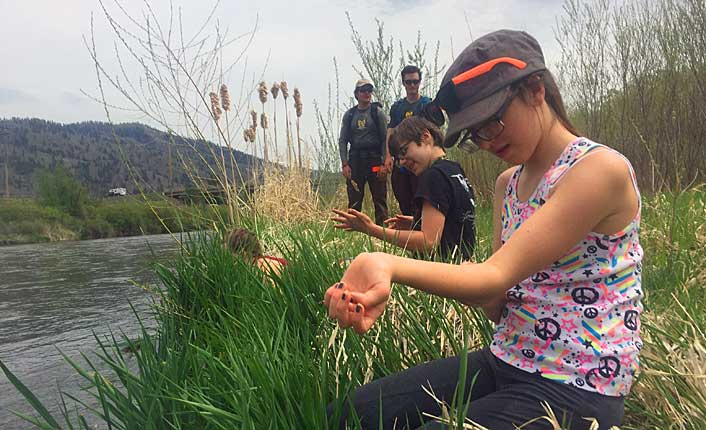 Student's at the Kids' River Expo. Photo courtesy of the Clark Fork Coalition.