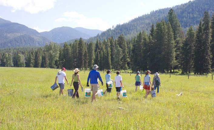 It was out of the Sundance Ranch project that Five Valleys' Hands on the Land volunteer program was born.