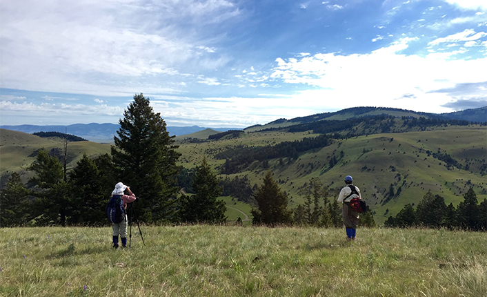 The property varies from ponds and riparian areas to upland grassland and woody draws. Photo by Five Valleys staff.