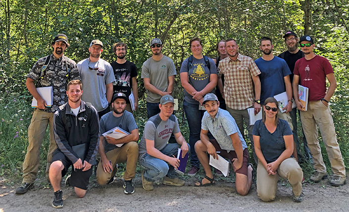 University of Montana Forestry students at Mount Dean Stone. Photo by Five Valleys staff.