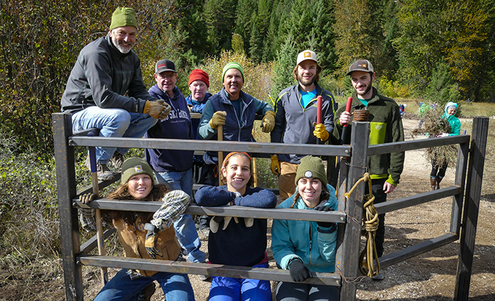 National Public Lands Day volunteers with the all abilities gate they helped to install. Photo by Geoff Sutton.