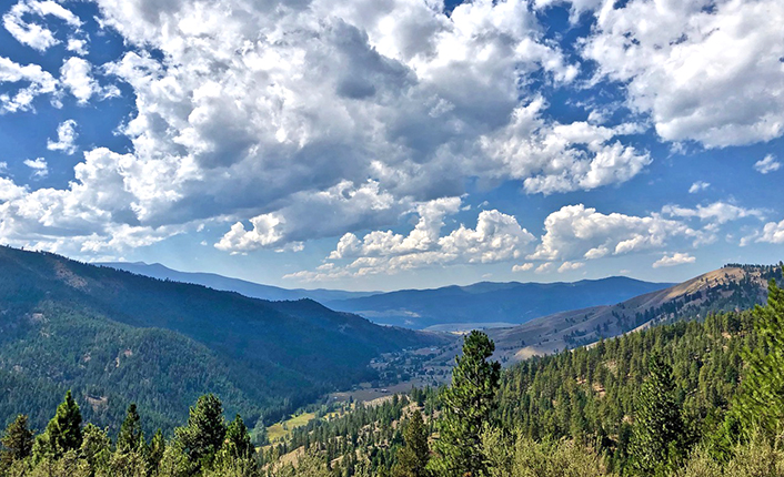 The view from Legacy Point, located in the 2,500-acre TNC parcel that spans the south side of the mountain.