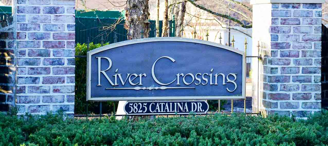 River Crossing sign