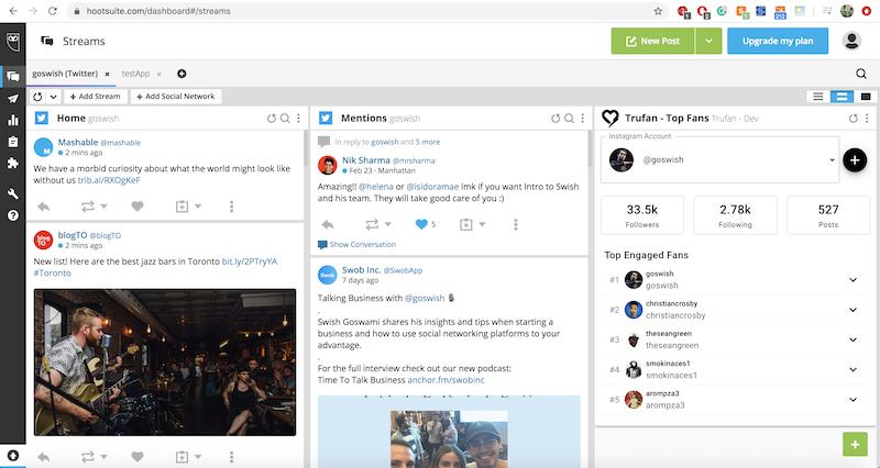SocialRank For Content Screenshot