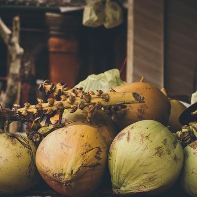 Foto eines lokalen Obst Marktes