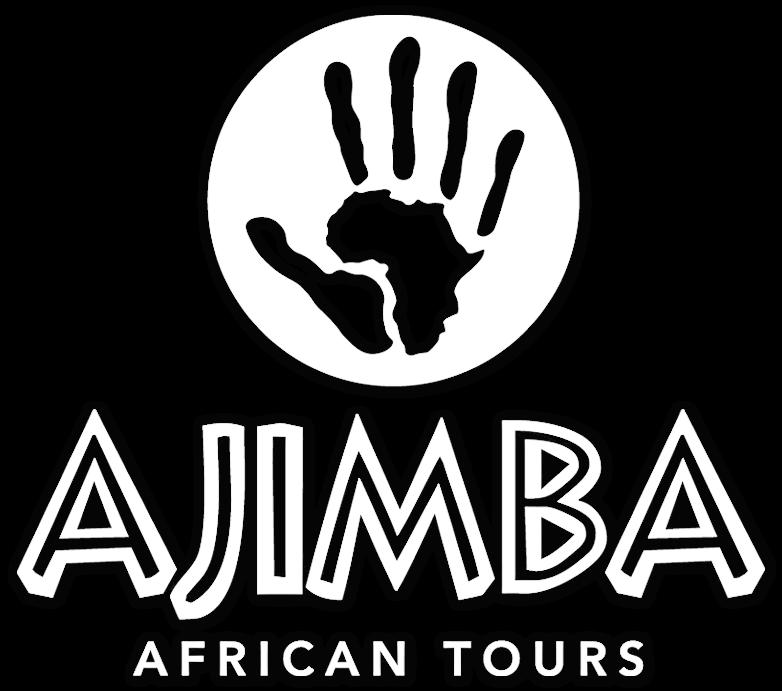 ajimba logo big and white