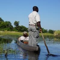 Mokoro Fahrt im Okavango Delta