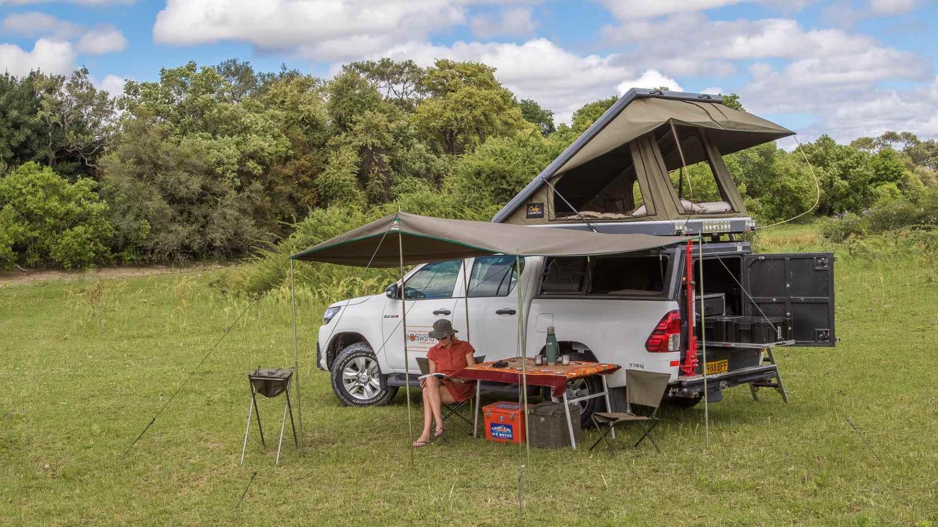 Unterkunft im Kwapa Camp: Zelt von innen