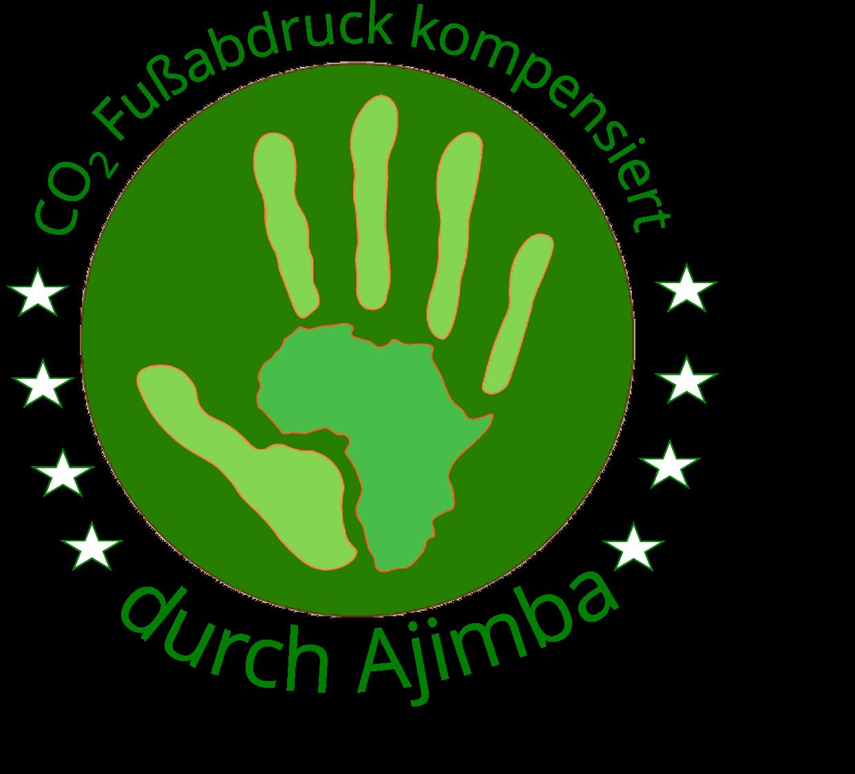 Ajimba Logo CO2 kompensiert
