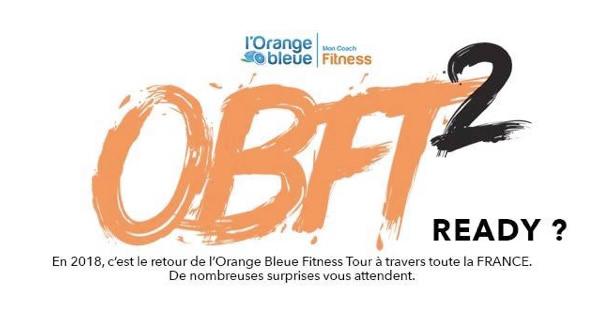 L'Orange Bleue Fitness Tour fera une halte sur notre salon le samedi 24 mars