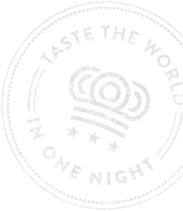 Taste the world in one night stamp
