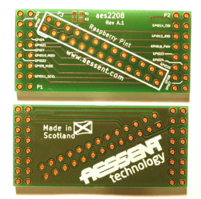 The aes2208 is an interface board to the Raspberry Pi GPIO port.