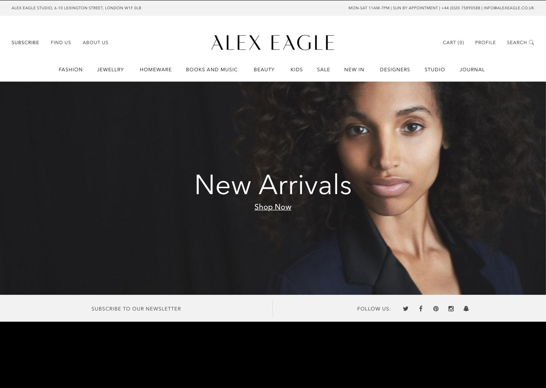 Alex Eagle Website