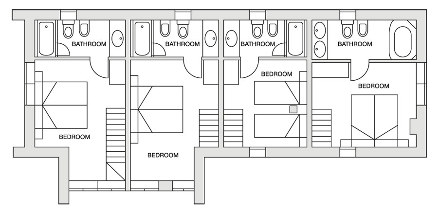 Eira Ski Lodge upper first floor plan