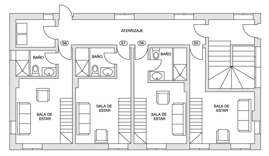 Eira Ski Lodge lower first floor plan