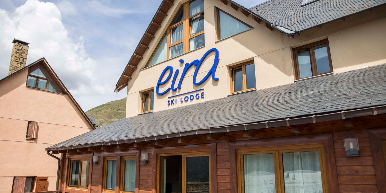 Outside Eira Ski Lodge