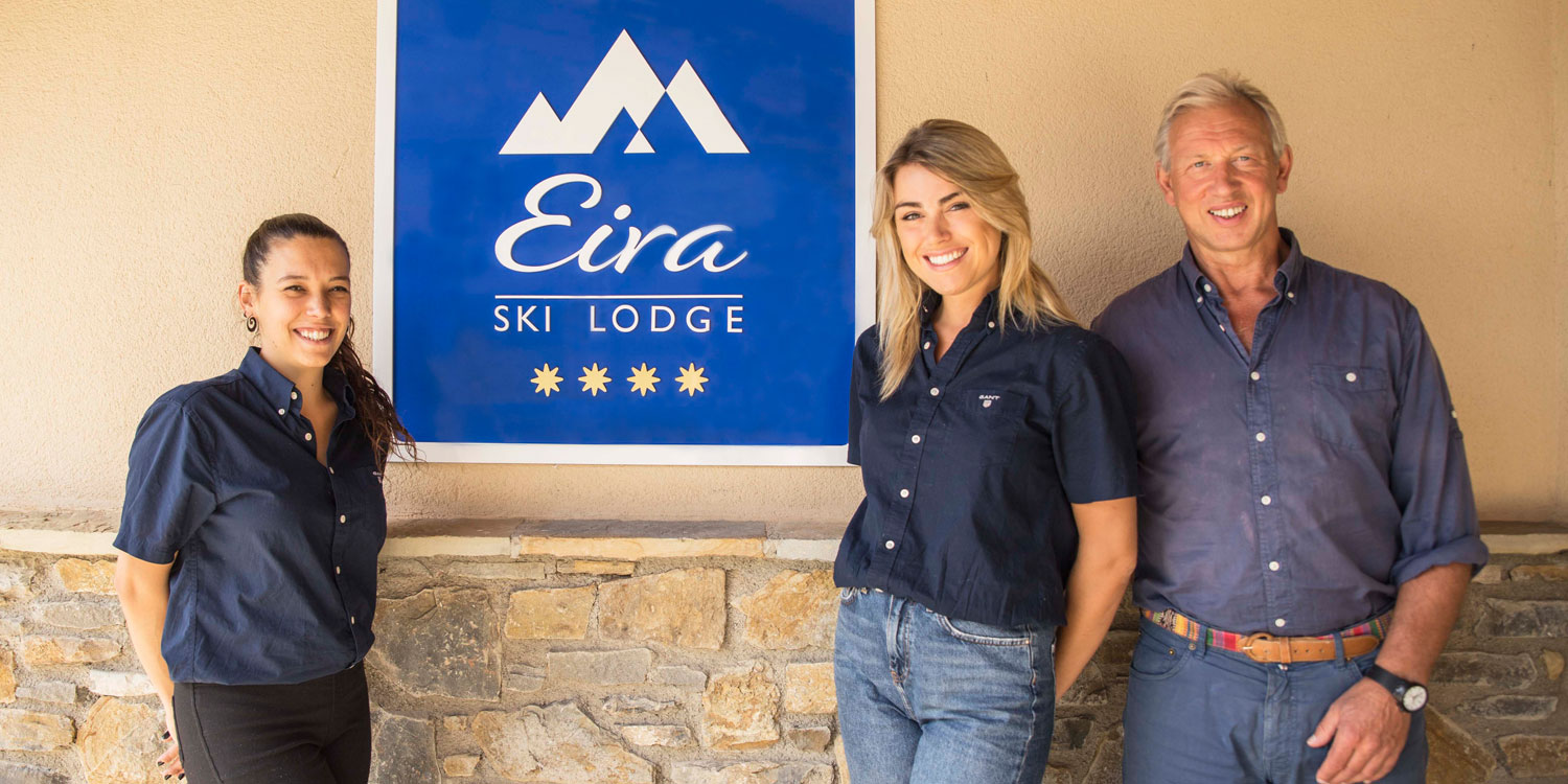 Some of the staff at Eira Ski Lodge