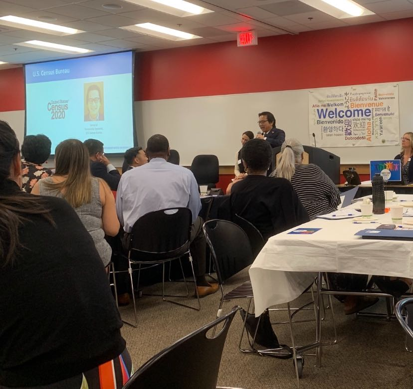 Sonny Lee, Partnership specialist from the U.S. Census Bureau at the San Mateo Regional Implementation Workshop for the Census 2020.