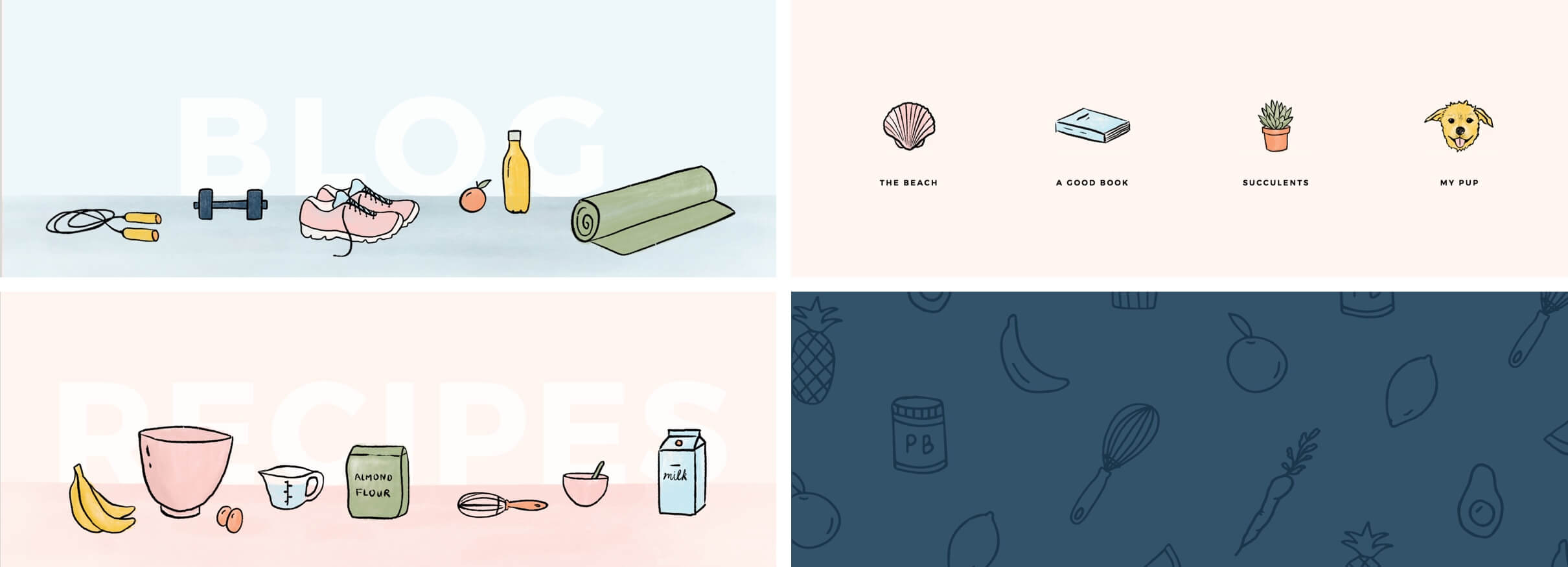 Push-ups and Peanut Butter illustrations