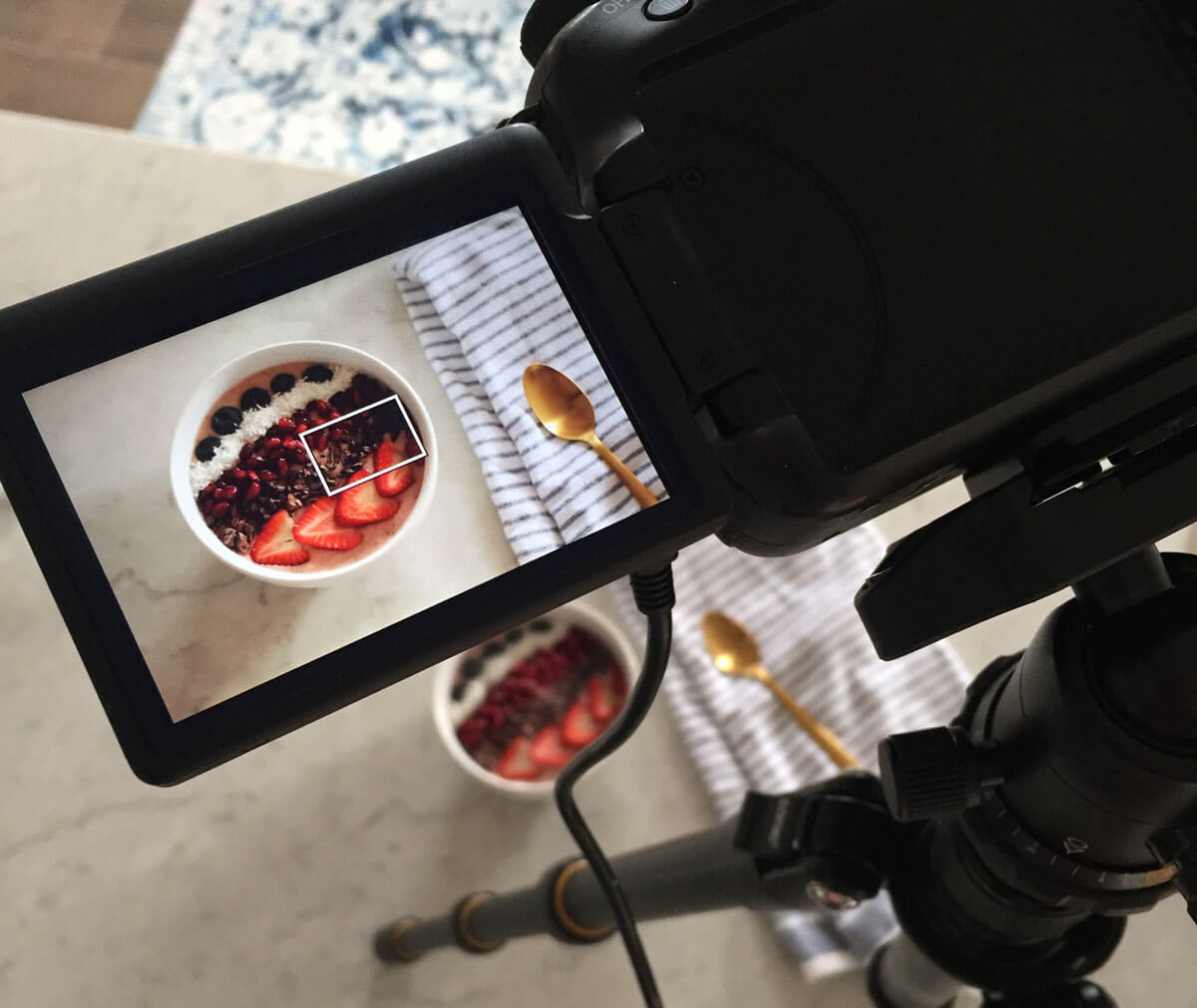 Push-ups and Peanut Butter photography shoot behind the scenes