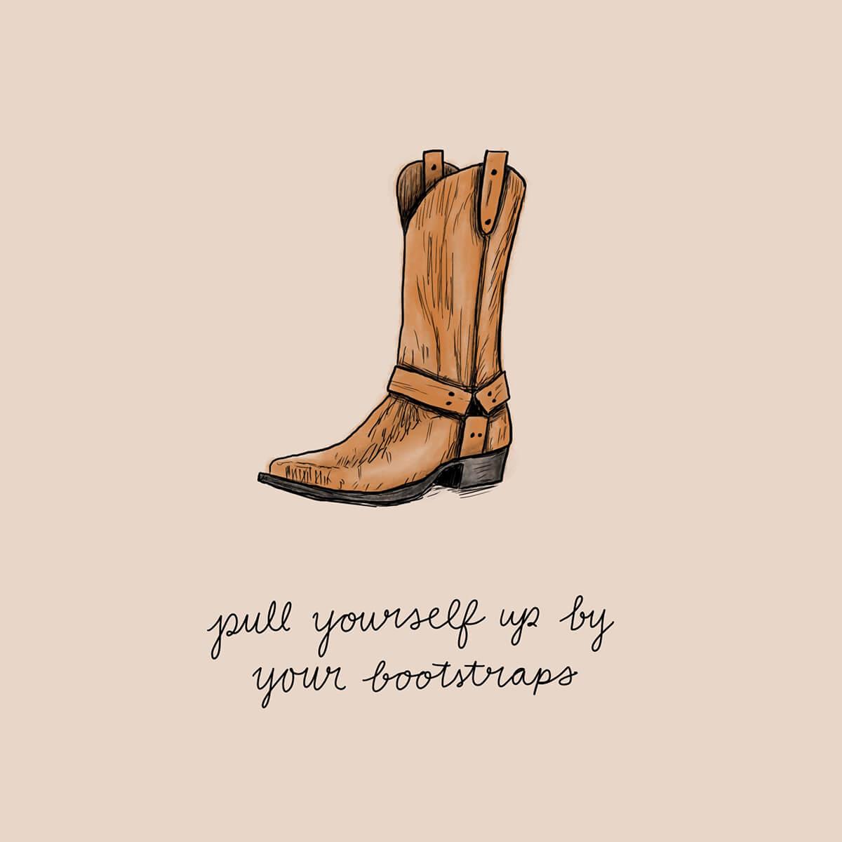 Mariel Feldman illustration boot