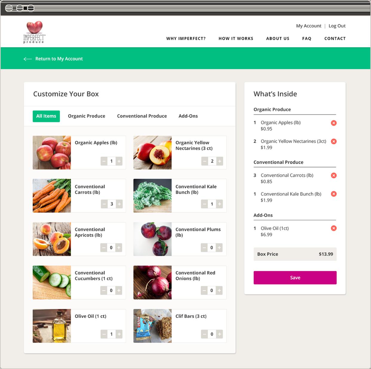 Imperfect Produce web design