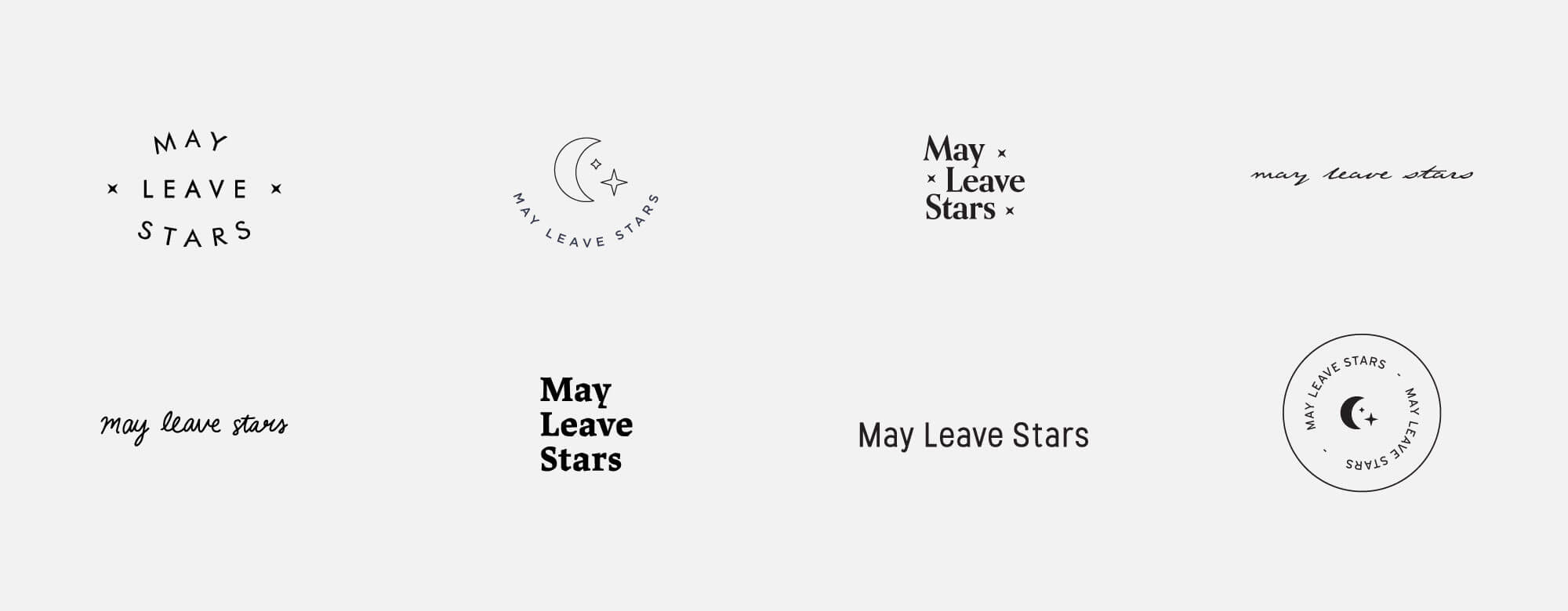 May Leaves Stars logo explorations