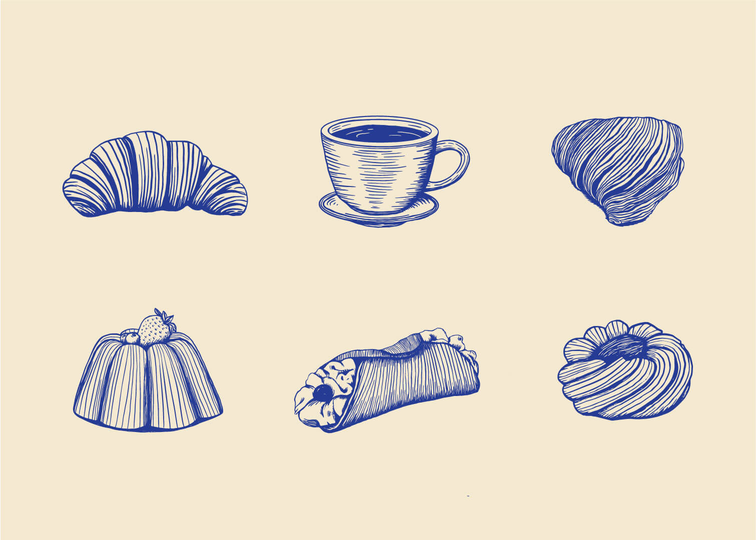 Messina Bakery & Cafe illustrations
