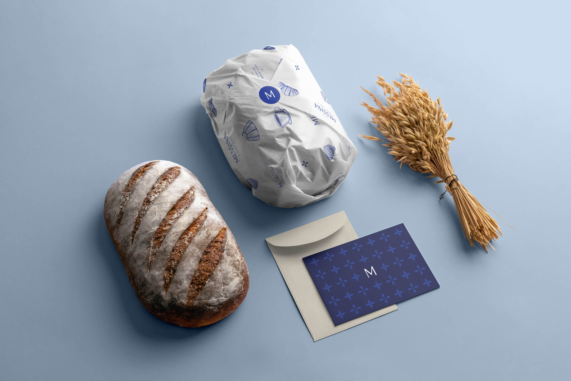 Messina Bread Wrap and Card