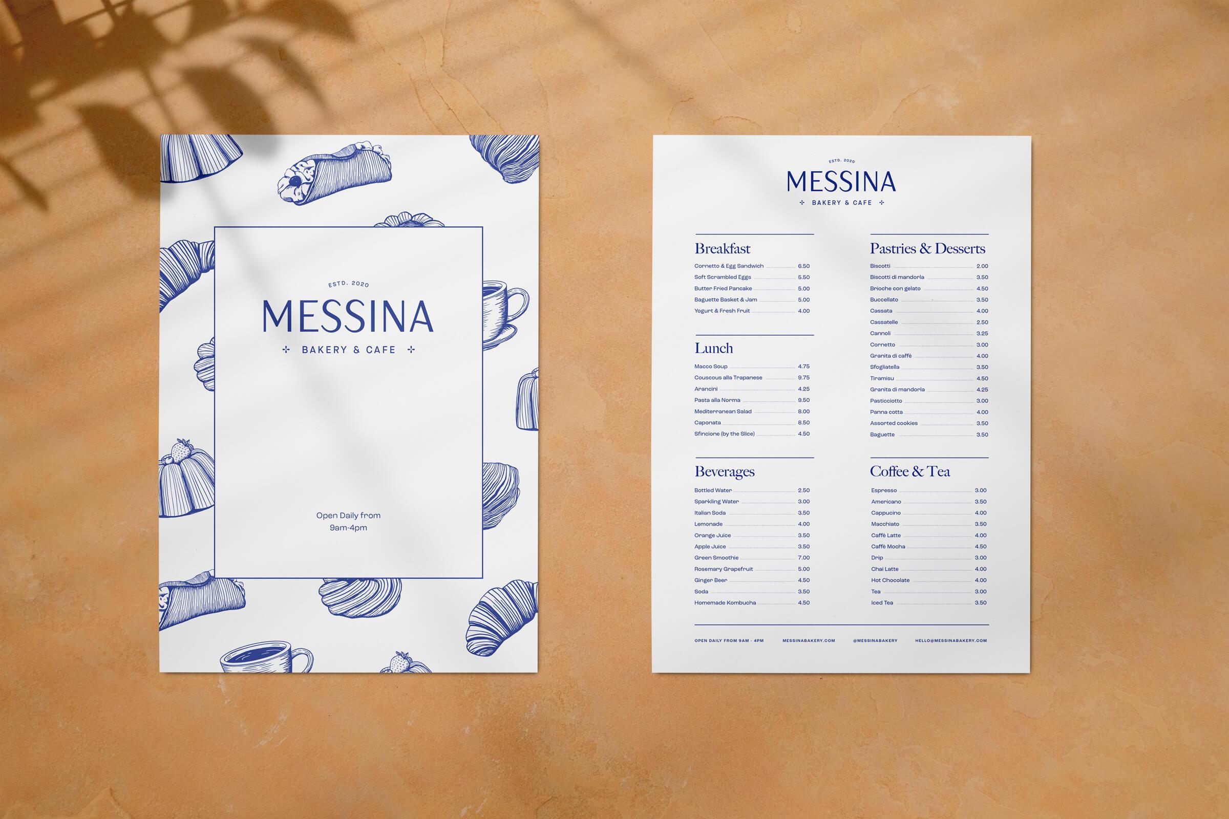 Messina Menus
