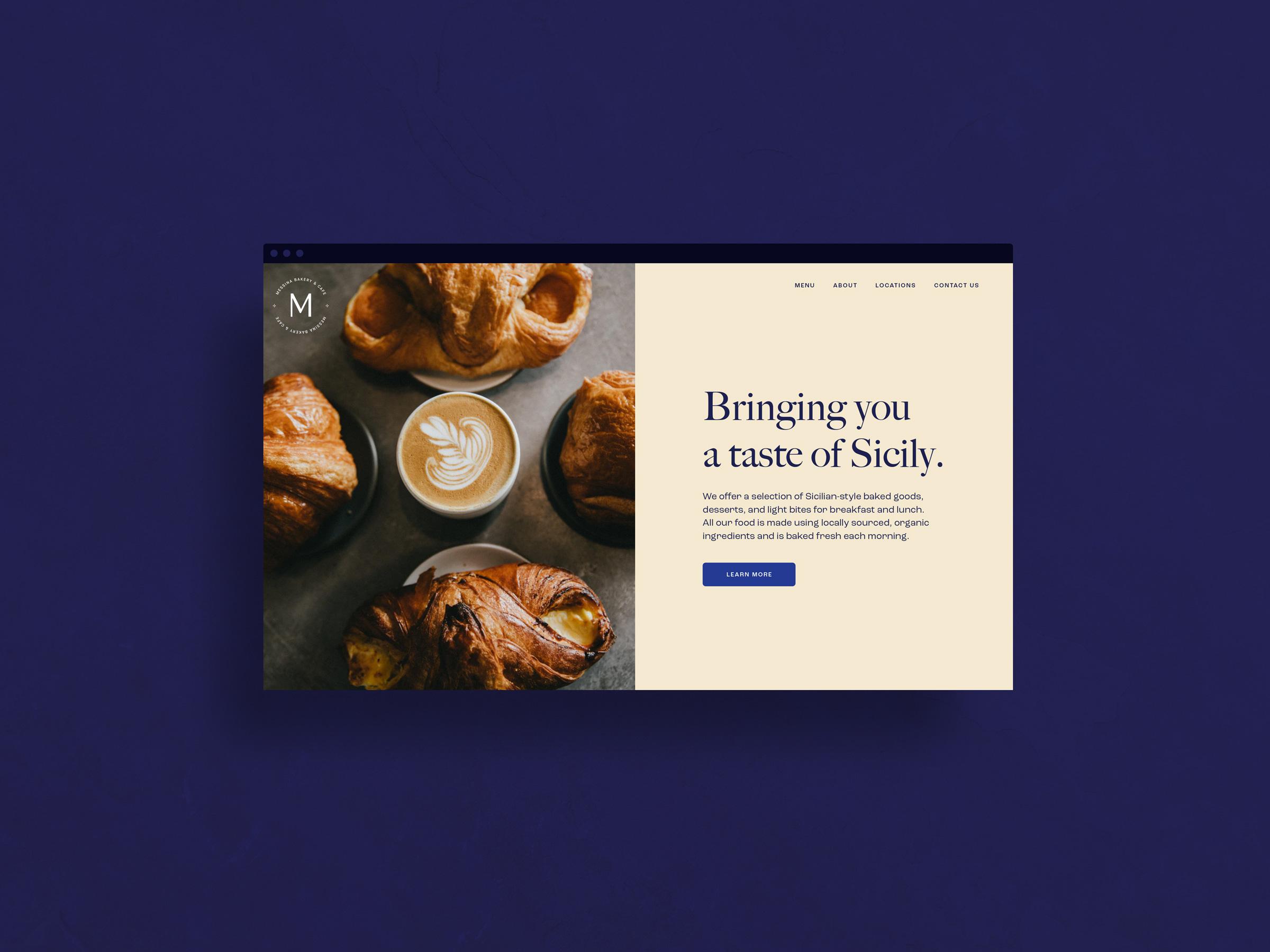 Messina Bakery web design