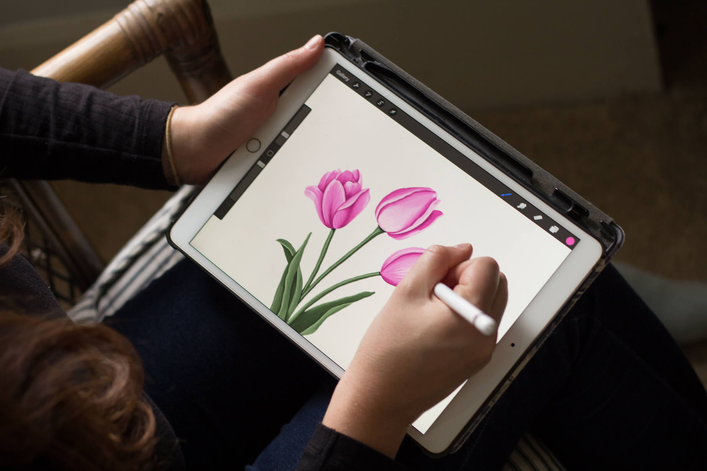 Tulips digital illustration