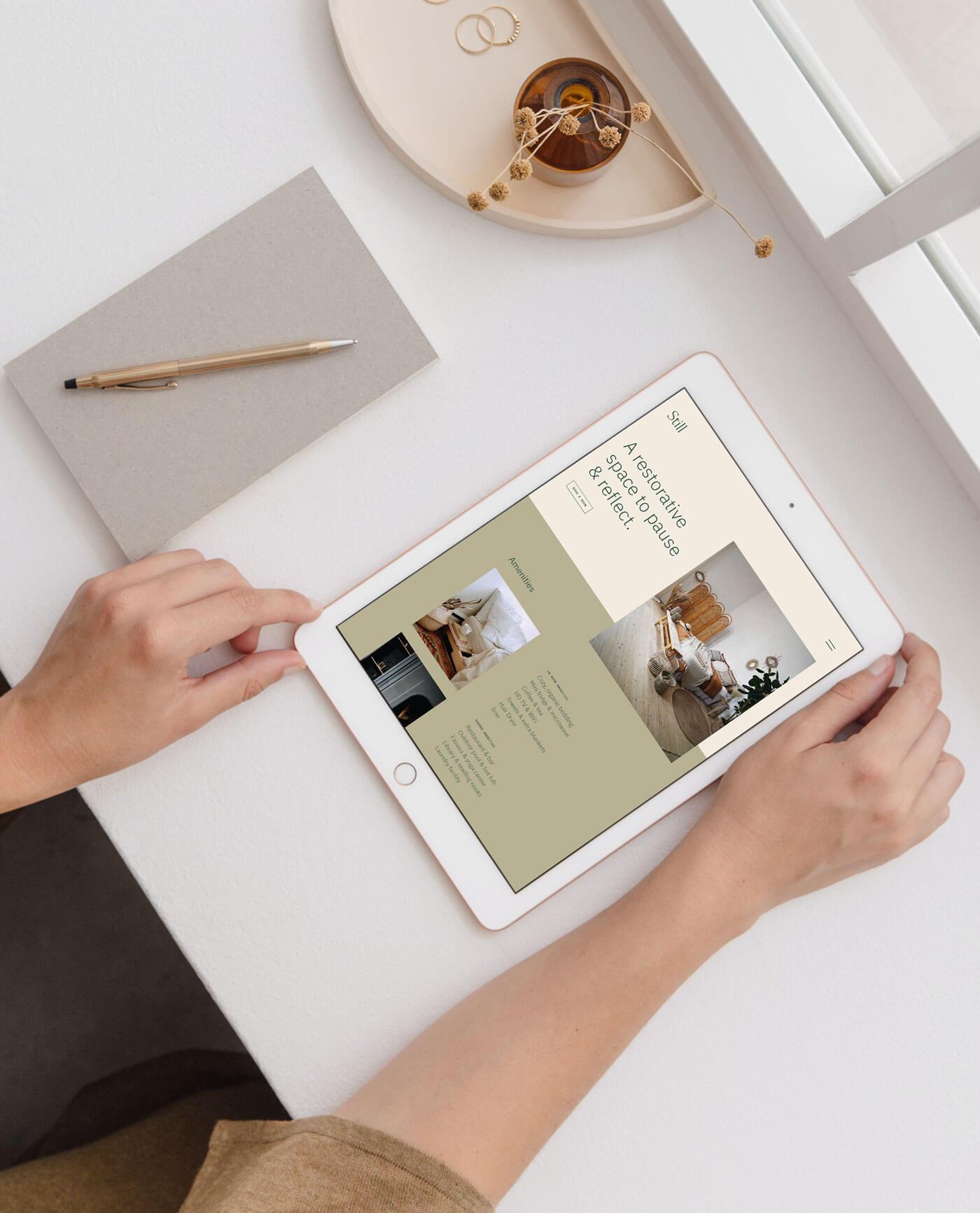 Still website on iPad