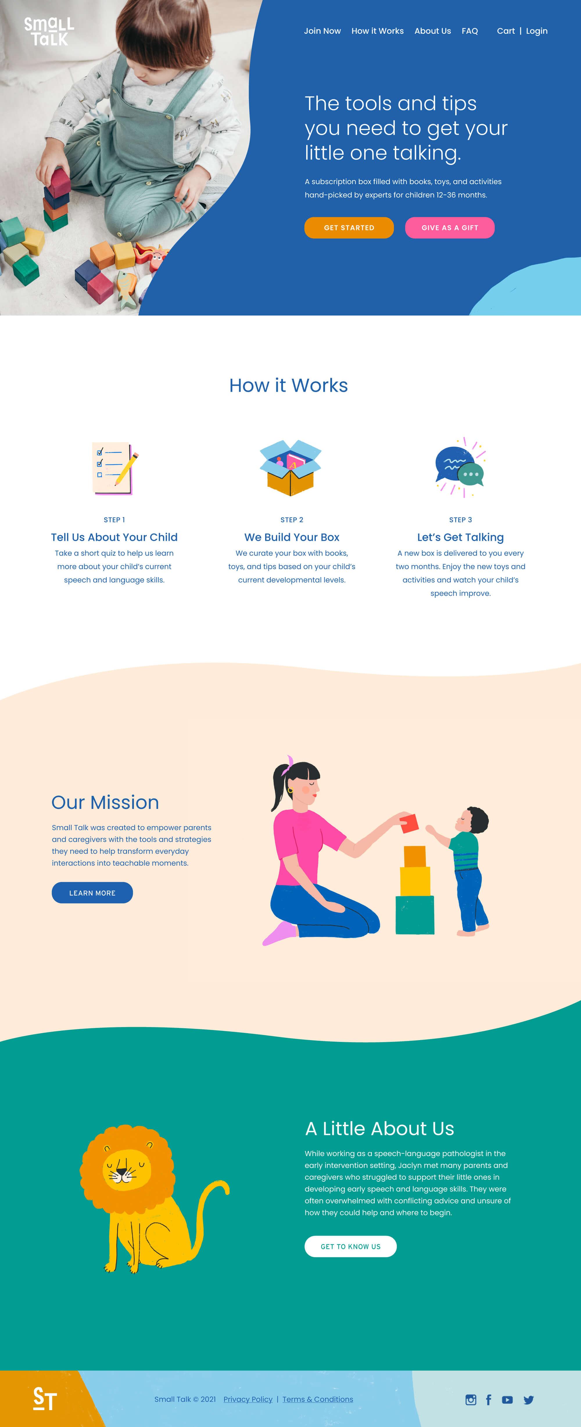 Small Talk website