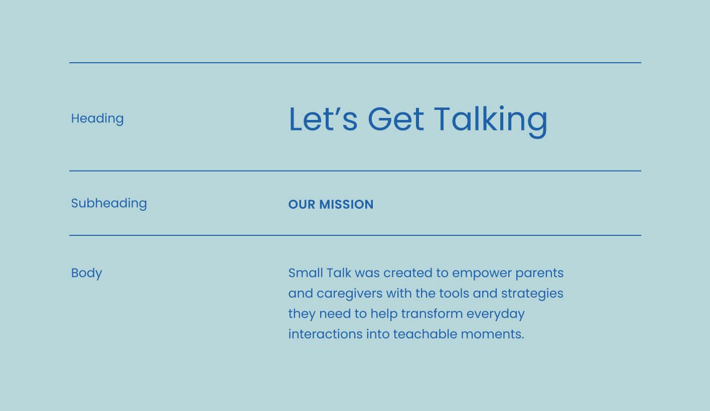 Small Talk typography