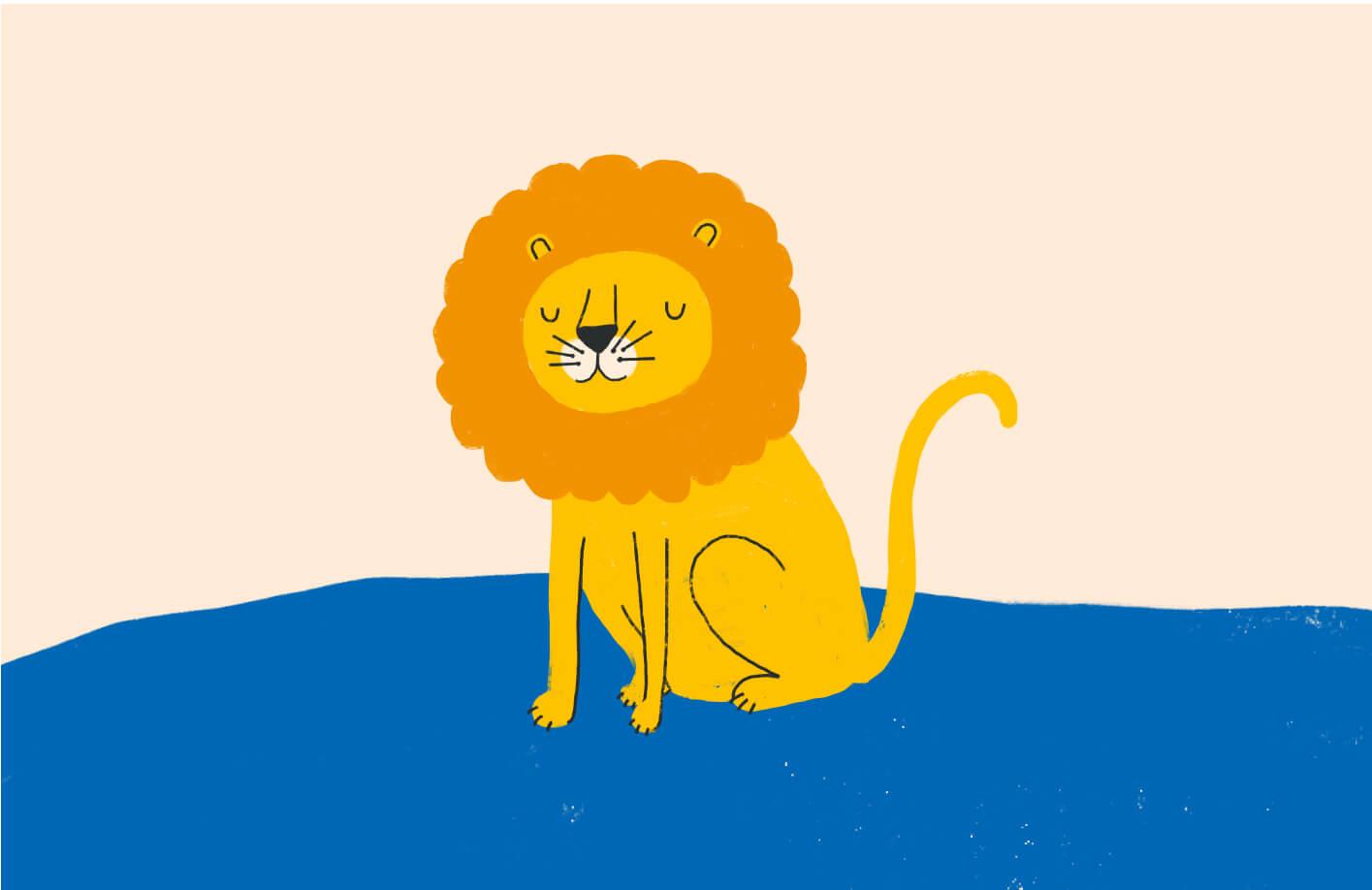 Small Talk lion illustration