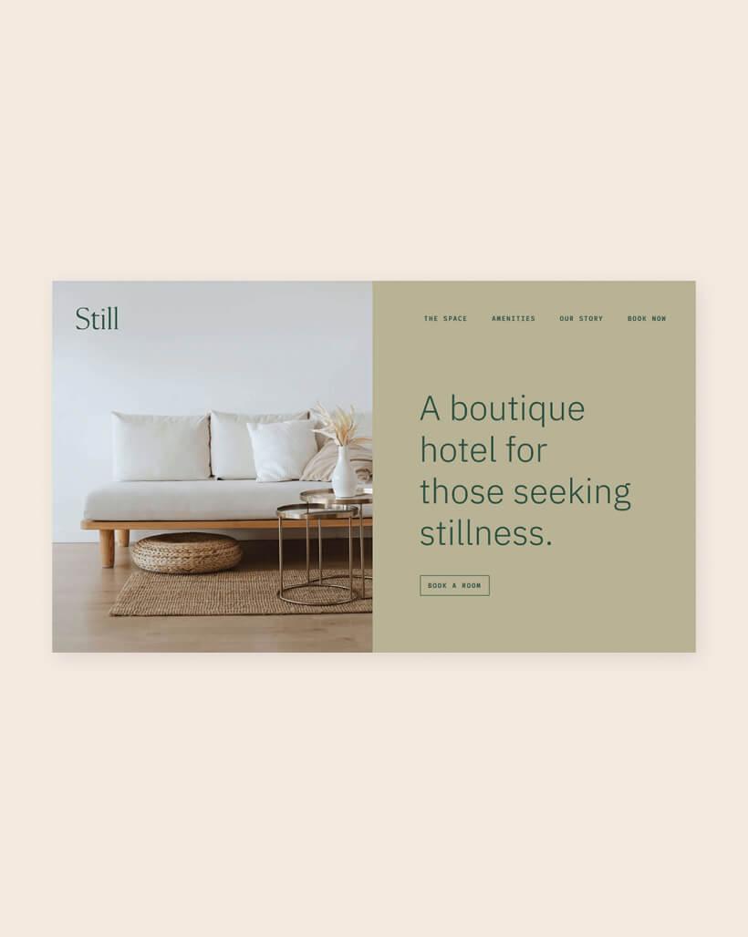 Still Hotel brand design
