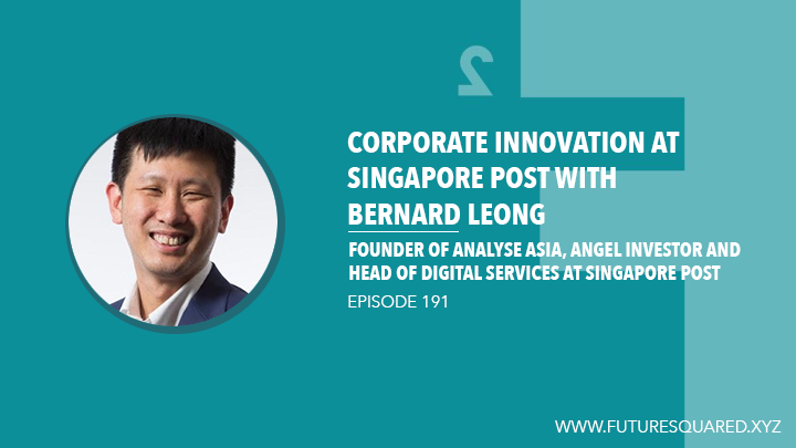 Future Squared Episode #191: Corporate Innovation at Singapore Post with Bernard Leong