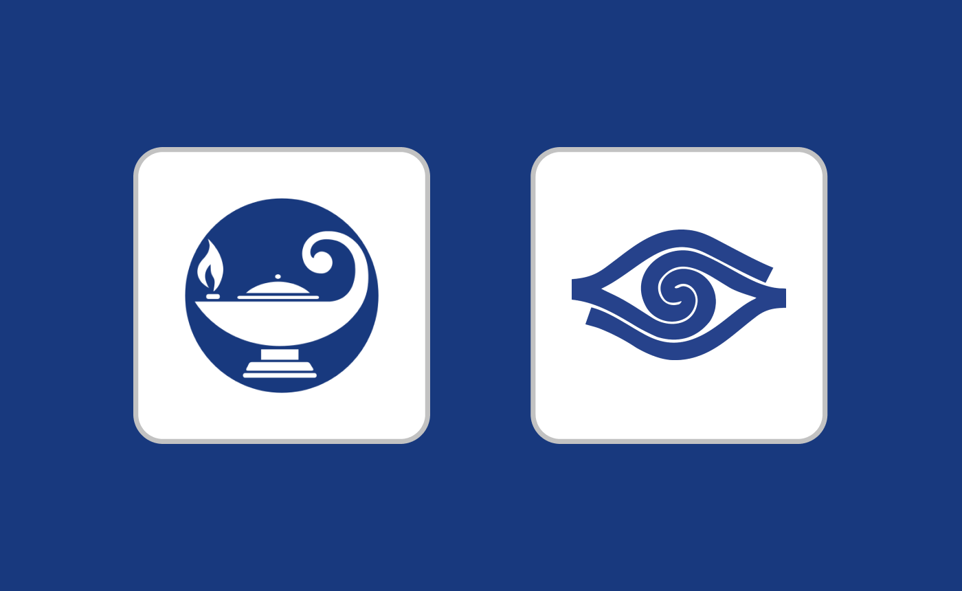The logos of Blindrafelagid and UNSS.