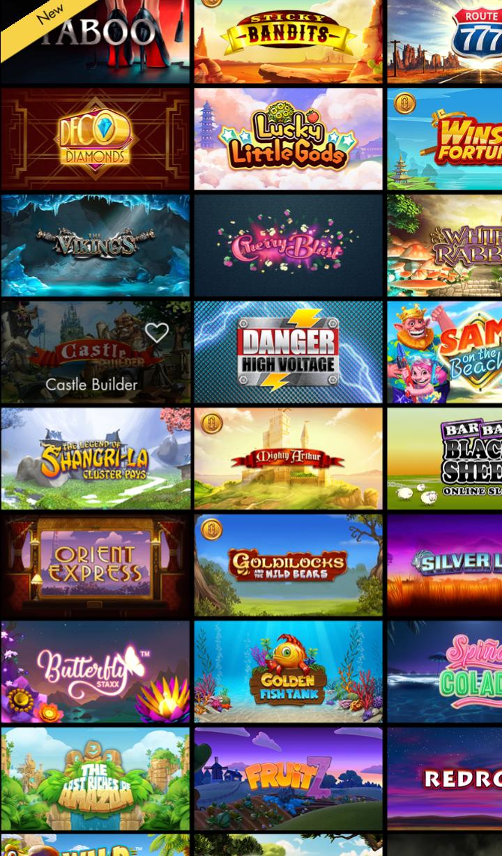 Bethard Casino tarjoaa laajan valikoiman pelejä